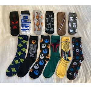 Star Wars sock collection 12 pairs